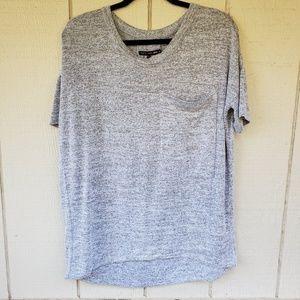 Rag & Bone Jeans T-Shirt Gray Oversized pocket Med